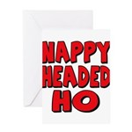 Nappy Headed Ho Red Design Greeting Card