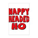 Nappy Headed Ho Red Design Mini Poster Print