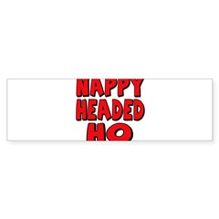 Nappy Headed Ho Red Design Sticker (Bumper)