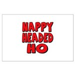 Nappy Headed Ho Red Design Large Poster