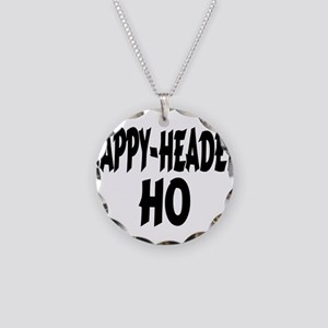 Nappy Headed Ho Brush Design Necklace Circle Charm