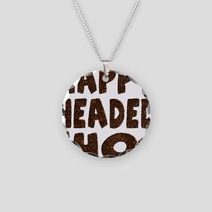 Nappy Headed Ho Hairy Design Necklace Circle Charm