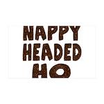 Nappy Headed Ho Hairy Design 38.5 x 24.5 Wall Peel