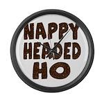 Nappy Headed Ho Hairy Design Large Wall Clock