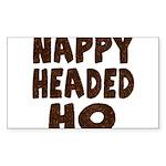 Nappy Headed Ho Hairy Design Sticker (Rectangle 10
