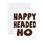 Nappy Headed Ho Hairy Design Greeting Cards (Pk of