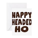 Nappy Headed Ho Hairy Design Greeting Card