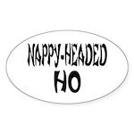 Nappy Headed Ho French Design Sticker (Oval 50 pk)