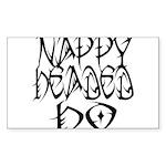 Nappy Headed Ho Tribal Design Sticker (Rectangle 5