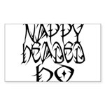 Nappy Headed Ho Tribal Design Sticker (Rectangle 1