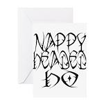 Nappy Headed Ho Tribal Design Greeting Card