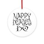 Nappy Headed Ho Tribal Design Ornament (Round)