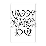 Nappy Headed Ho Tribal Design Mini Poster Print