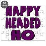 Nappy Headed Ho Purple Design Puzzle