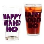 Nappy Headed Ho Purple Design Drinking Glass