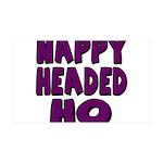 Nappy Headed Ho Purple Design 38.5 x 24.5 Wall Pee