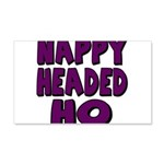 Nappy Headed Ho Purple Design 22x14 Wall Peel