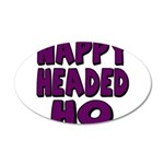 Nappy Headed Ho Purple Design 38.5 x 24.5 Oval Wal