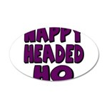Nappy Headed Ho Purple Design 22x14 Oval Wall Peel
