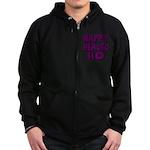 Nappy Headed Ho Purple Design Zip Hoodie (dark)