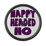 Nappy Headed Ho Purple Design Large Wall Clock