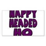 Nappy Headed Ho Purple Design Sticker (Rectangle 1