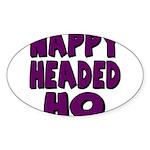 Nappy Headed Ho Purple Design Sticker (Oval 10 pk)