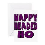 Nappy Headed Ho Purple Design Greeting Card