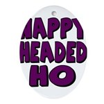 Nappy Headed Ho Purple Design Ornament (Oval)