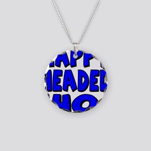 Nappy Headed Ho Blue Design Necklace Circle Charm