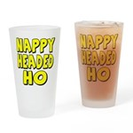 Nappy Headed Ho Yellow Design Drinking Glass