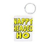 Nappy Headed Ho Yellow Design Aluminum Photo Keych