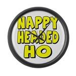 Nappy Headed Ho Yellow Design Large Wall Clock