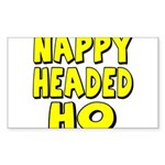 Nappy Headed Ho Yellow Design Sticker (Rectangle 5