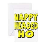 Nappy Headed Ho Yellow Design Greeting Cards (Pk o