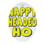 Nappy Headed Ho Yellow Design Ornament (Oval)