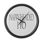 Nappy Headed Ho Classy Design Large Wall Clock