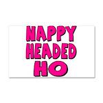 Nappy Headed Ho Pink Design Car Magnet 20 x 12