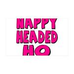 Nappy Headed Ho Pink Design 38.5 x 24.5 Wall Peel