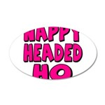 Nappy Headed Ho Pink Design 38.5 x 24.5 Oval Wall