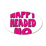 Nappy Headed Ho Pink Design 22x14 Oval Wall Peel