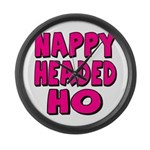 Nappy Headed Ho Pink Design Large Wall Clock