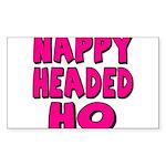Nappy Headed Ho Pink Design Sticker (Rectangle 50