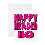 Nappy Headed Ho Pink Design Greeting Card