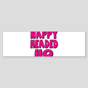 Nappy Headed Ho Pink Design Sticker (Bumper)