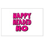 Nappy Headed Ho Pink Design Large Poster