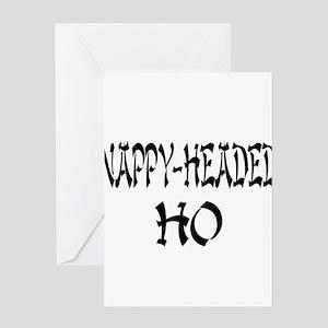 Nappy Headed Ho Oriental Desi Greeting Card