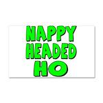 Nappy Headed Ho Green Design Car Magnet 20 x 12