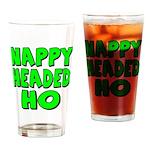 Nappy Headed Ho Green Design Drinking Glass