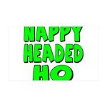 Nappy Headed Ho Green Design 38.5 x 24.5 Wall Peel